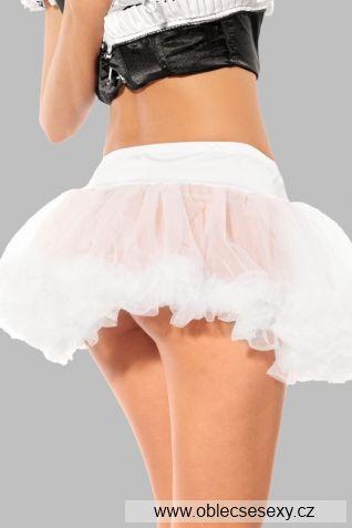 Bílá dámská tylová sukně