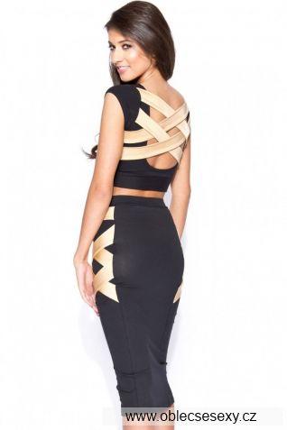 Levný set dlouhé sukně a topu