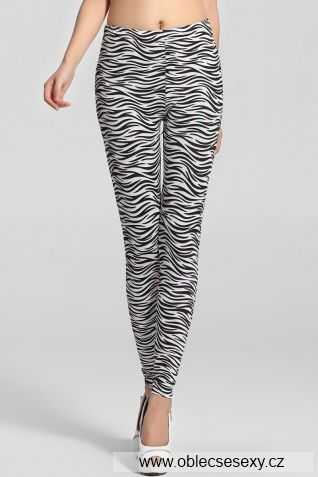 Dámské legíny zebra