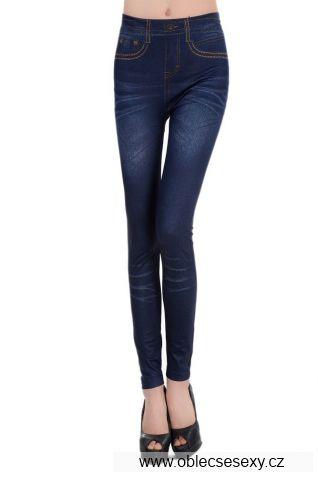 Levné dámské legíny imitace džíny