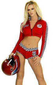 Sexy závodní červený kostým