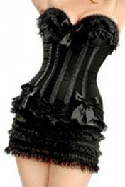 Sexy korzet černý se sukní