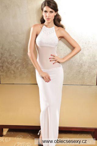 Bílé dlouhé šaty