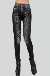 Dámské legíny džíny s potiskem