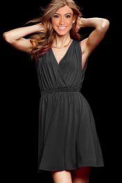 Levné černé letní šaty