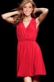 Levné červené letní šaty