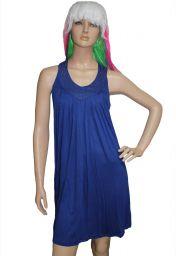 Levné modré letní šaty Sidney