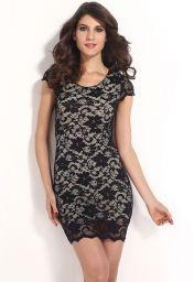 Levné černé šaty Flora