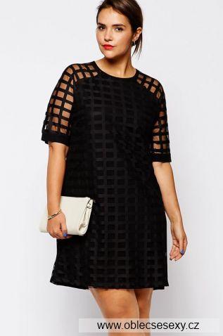 Elegantní černé šaty velikost XXL