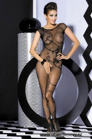 Erotické síťované bodystocking