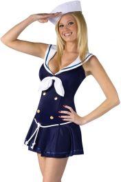 Dámský levný námořní kostým