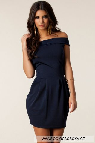 Levné černé šaty Kim