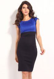 Levné modro černé šaty