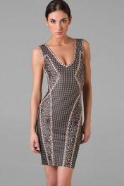 Krátké letní šaty bez ramínek Abstract