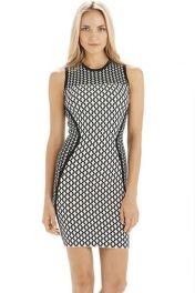 Levné letní geometrické šaty