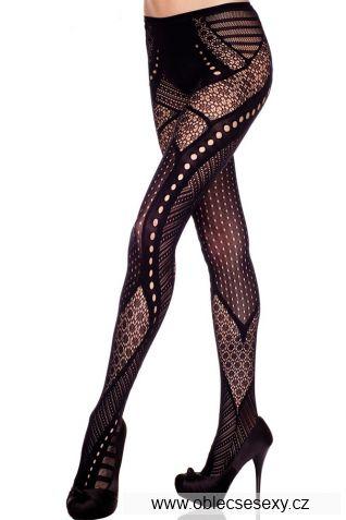 Dámské černé levné sexy punčocháče