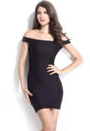 Levné krátké černé šaty