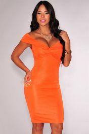 Oranžové sexy šaty Danica