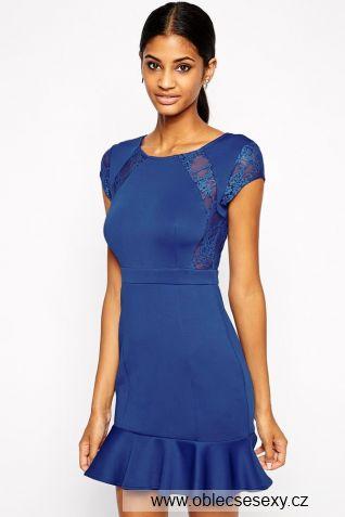 Modré šaty se sukní Libella