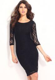 Černé levné krajkové šaty