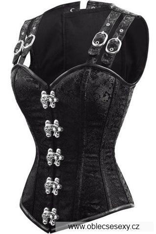 Černý luxusní korzet