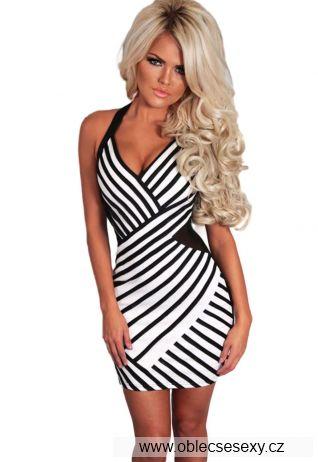 Černobílé sexy šaty