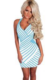Modrobílé šaty