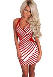 Červenobílé šaty