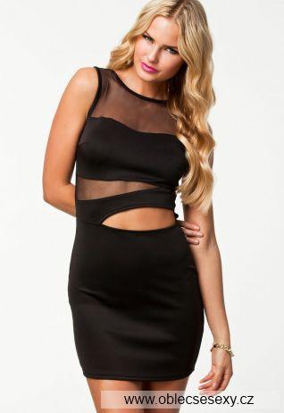 Černé krátké vzdušné šaty
