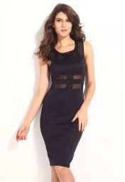 Levné černé midi šaty Simone