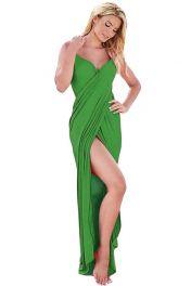 Zelený sarong s ramínky