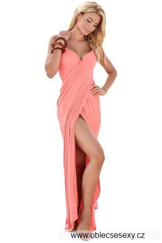 Růžový sarong s ramínky