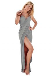 Šedivý sarong s ramínky