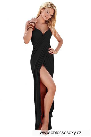 Černý sarong s ramínky