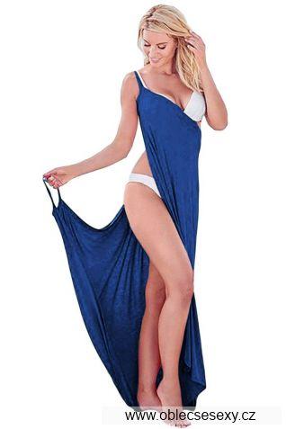 Modrý sarong s ramínky