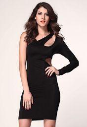 Levné černé clubwear šaty