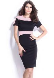 Levné černo růžové šaty