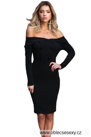 Levné černé letní clubwear šaty