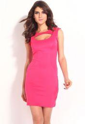 Levné růžové krátké letní šaty