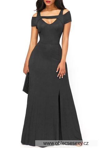 Šedivé dlouhé šaty