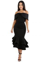 Černé dlouhé šaty mořská panna
