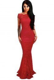 Červené večerní dlouhé šaty
