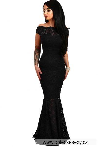 Černé večerní dlouhé šaty