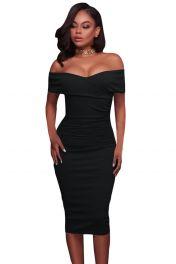 Černé středně dlouhé šaty