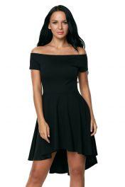 Černé šaty s volnou sukní