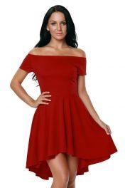 Červené šaty s volnou sukní