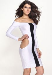 Černobílé clubwear šaty