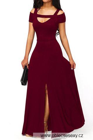 Červené dlouhé večerní šaty