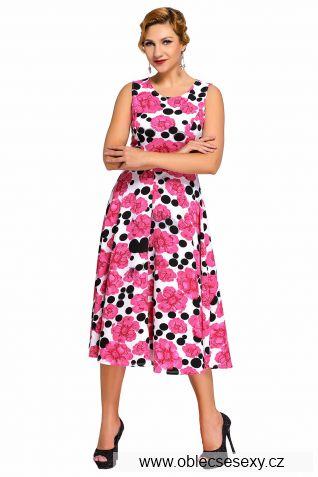 Růžové retro šaty