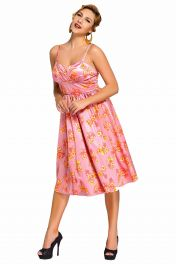 Růžové Pin-up retro šaty